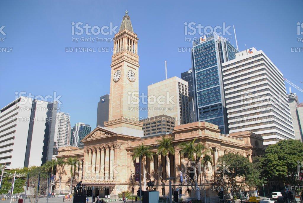 Brisbane City Hall stock photo