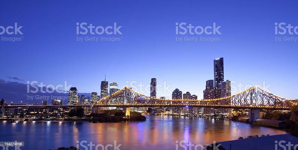 Brisbane city, night stock photo