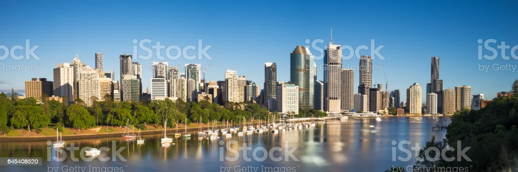 Brisbane City panoramic stock photo