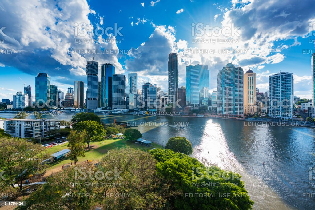 Brisbane city skyline stock photo