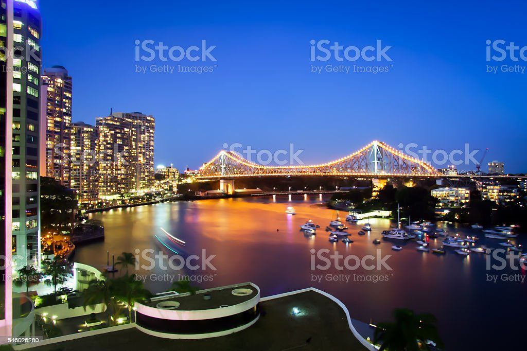 Brisbane City Storey Bridge Queensland Australia stock photo