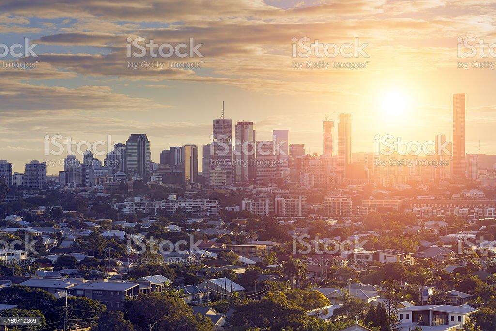 Brisbane City Sunset stock photo