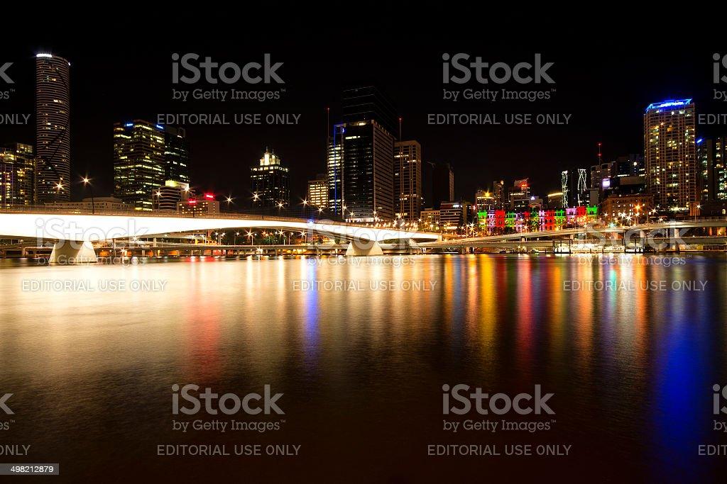 Brisbane City view from Kangaroo Point stock photo