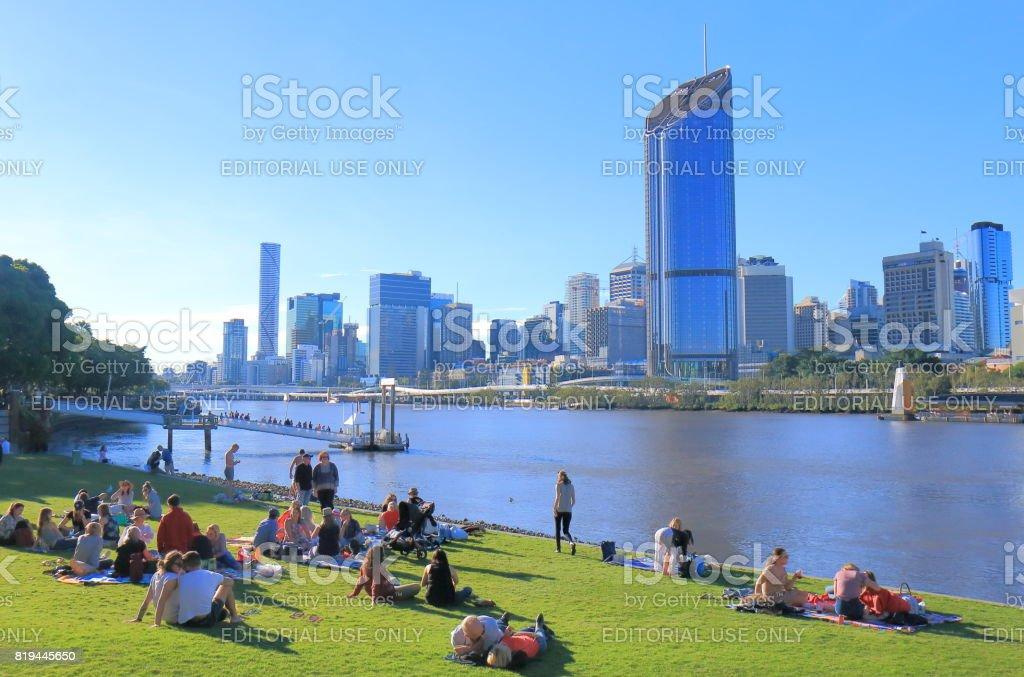 Brisbane downtown skyscrapers cityscape Australia stock photo
