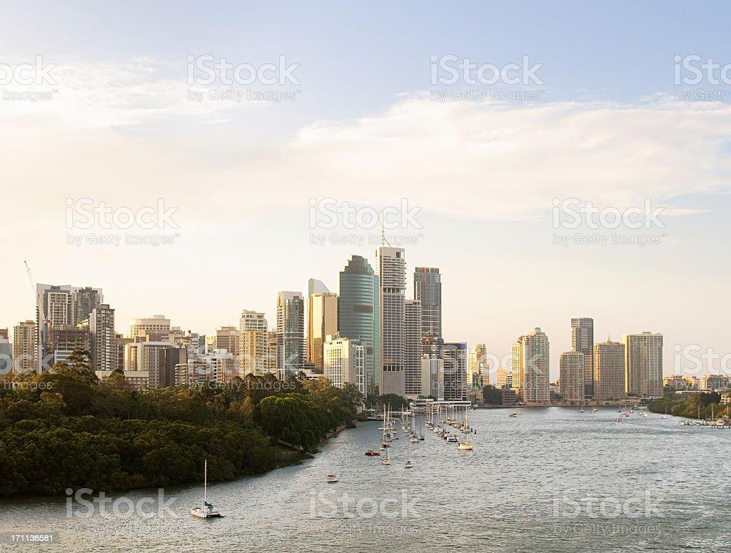Brisbane Evening Skyline stock photo