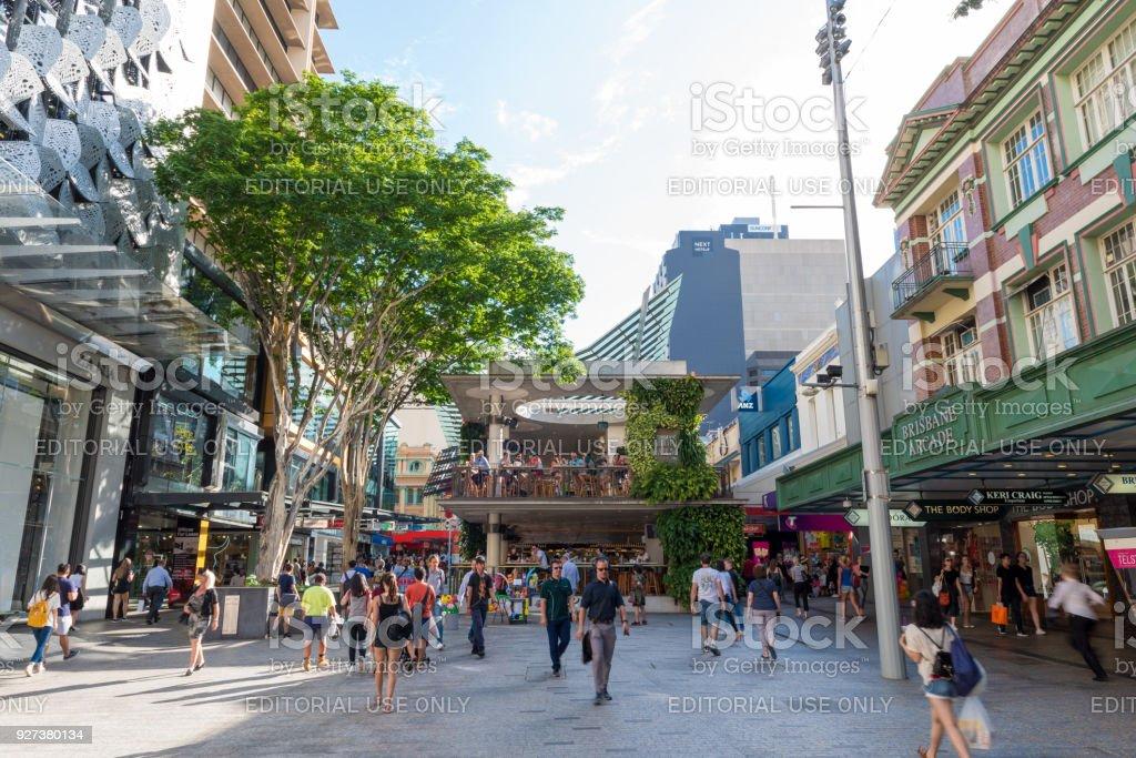 Brisbane High Street stock photo