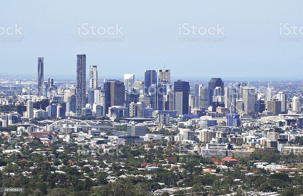 Brisbane Lookout Mt Coot-tha stock photo