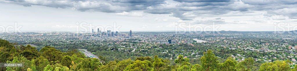 Brisbane panorama Mount Coot-tha stock photo