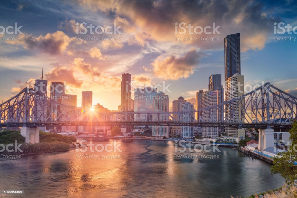 Brisbane. stock photo