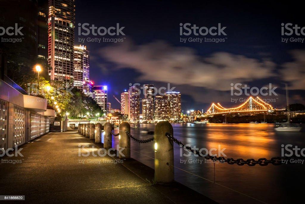 Brisbane River at Night stock photo