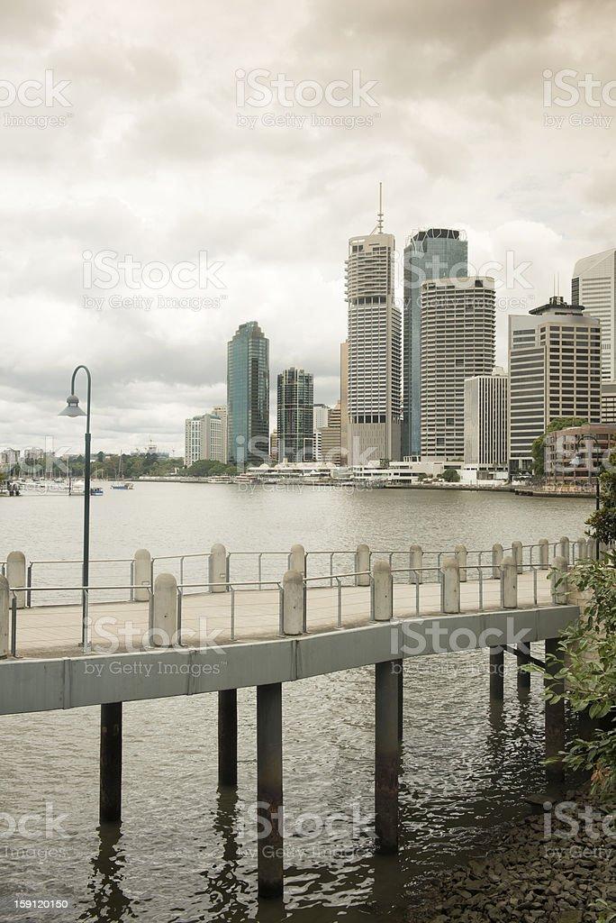 Brisbane River City royalty-free stock photo
