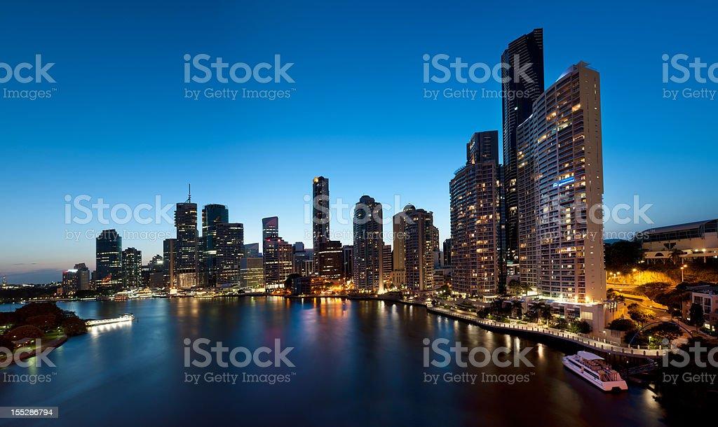 Brisbane Skyline at Twilight (XXXL) stock photo