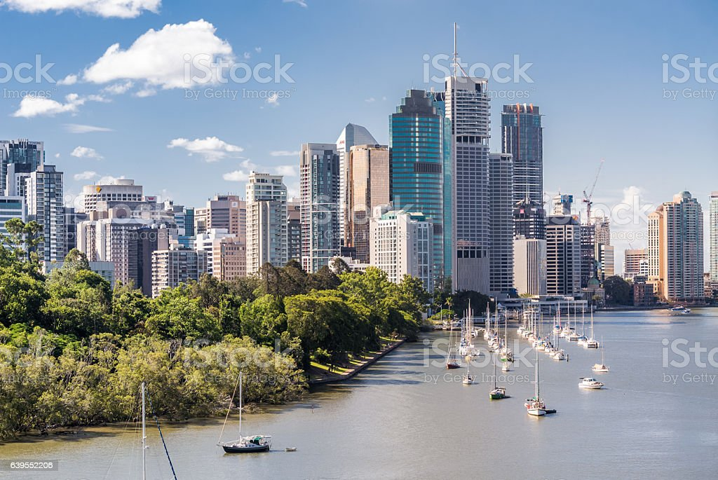 Brisbane Skyline stock photo