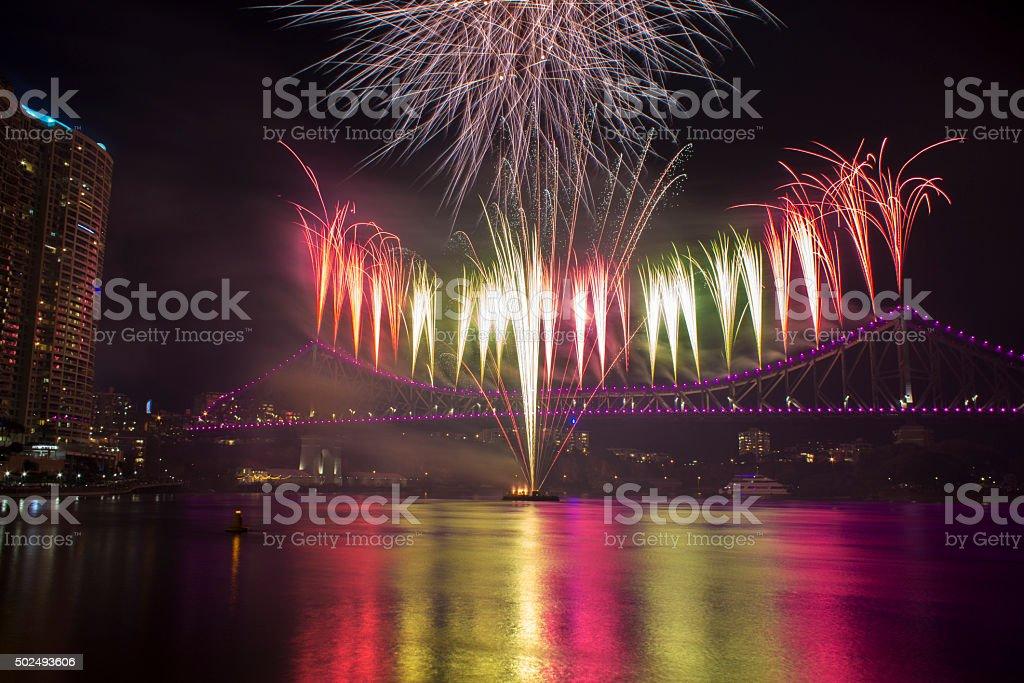 Images new years eve fireworks brisbane story bridge