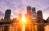 Sunset in Brisbane, Australia.
