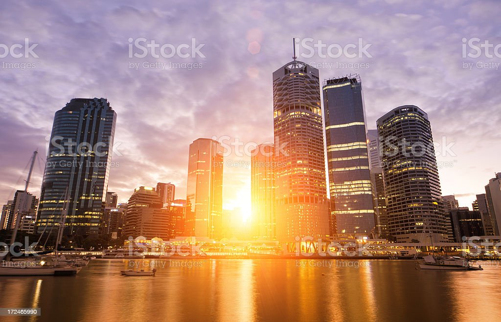 Brisbane Sunset stock photo