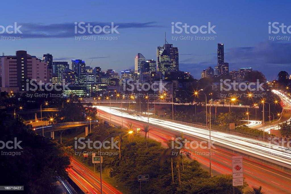 Brisbane Traffic stock photo