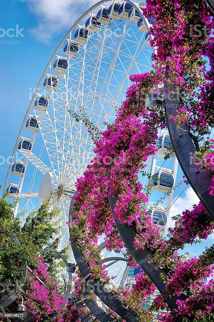Brisbane Wheel at Southbank stock photo