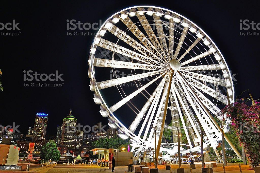 Brisbane Wheel in motion stock photo