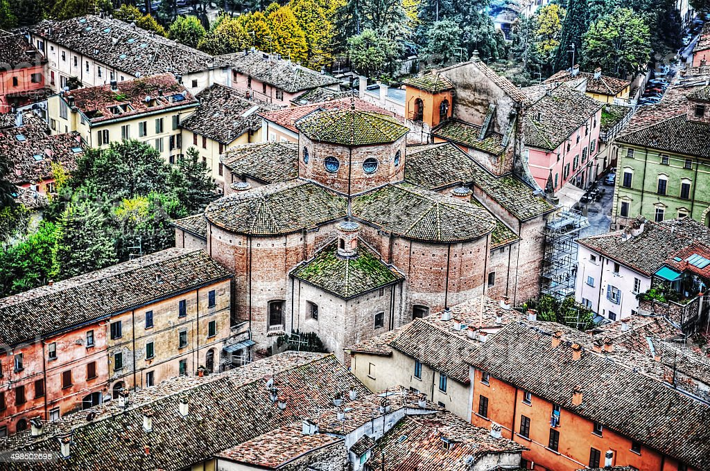 Brisighella church seen from above stock photo