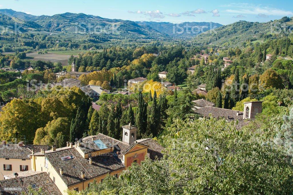 Brisighella, hilly landscape - foto stock