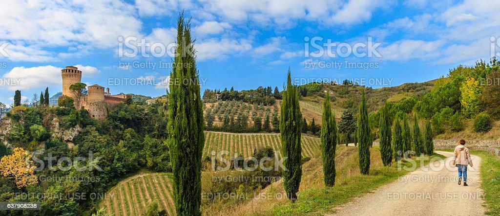 Brisighella, Rocca Manfrediana - Emilia Romagna, Italy stock photo