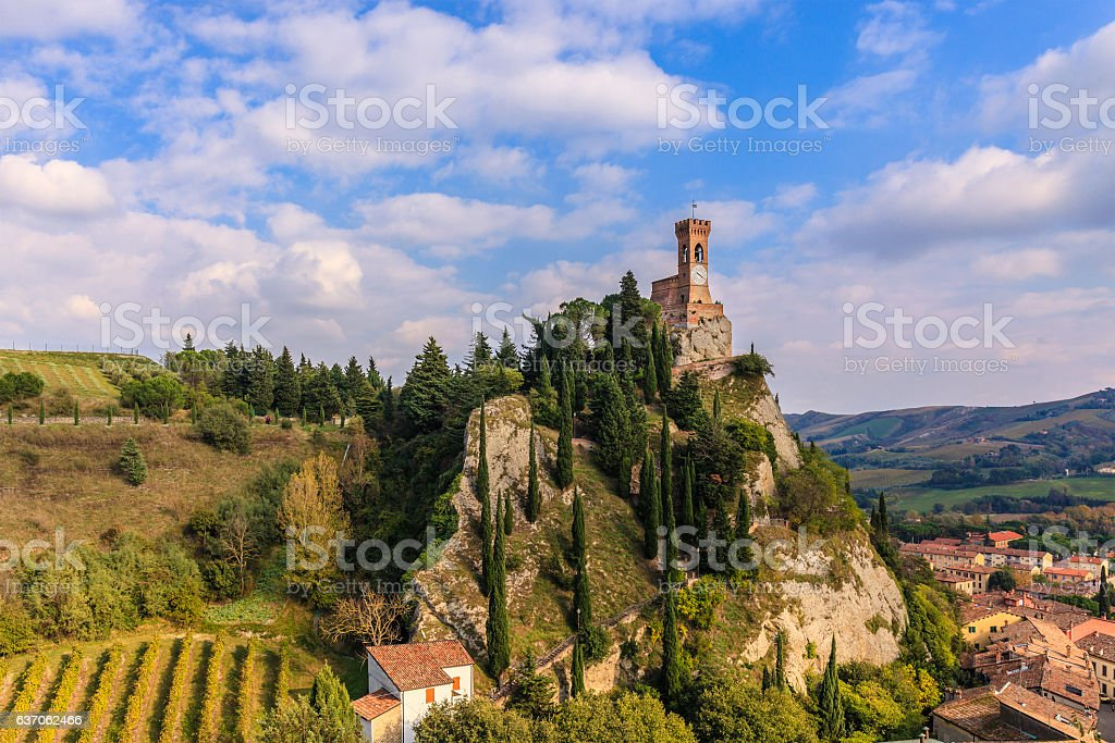 Brisighella, the Clock Tower - Emilia Romagna, Italy stock photo