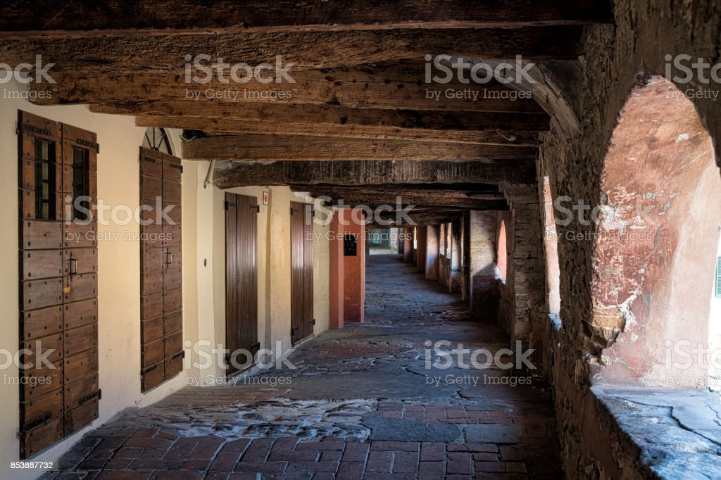Brisighella (Ravenna, Italy): via degli Asini - foto stock