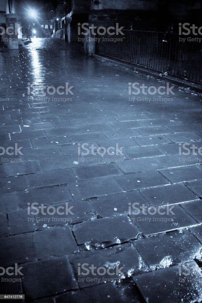Bristol backstreet at night stock photo