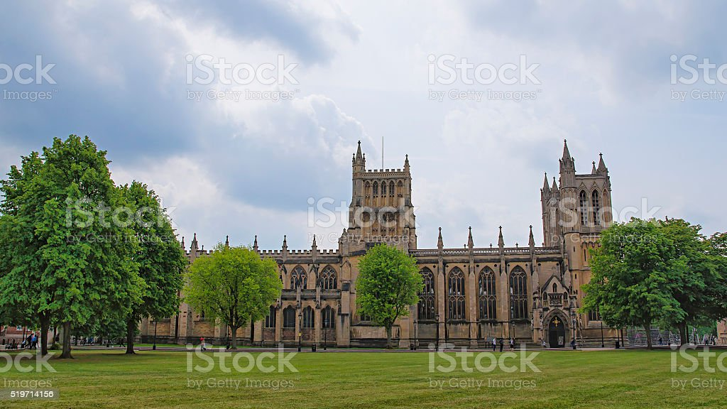 Bristol Cathedral in Bristol in South West of England stock photo