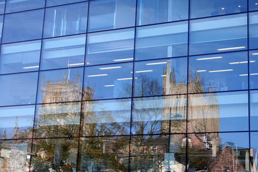 Bristol Cathedral Reflections in Glass Building
