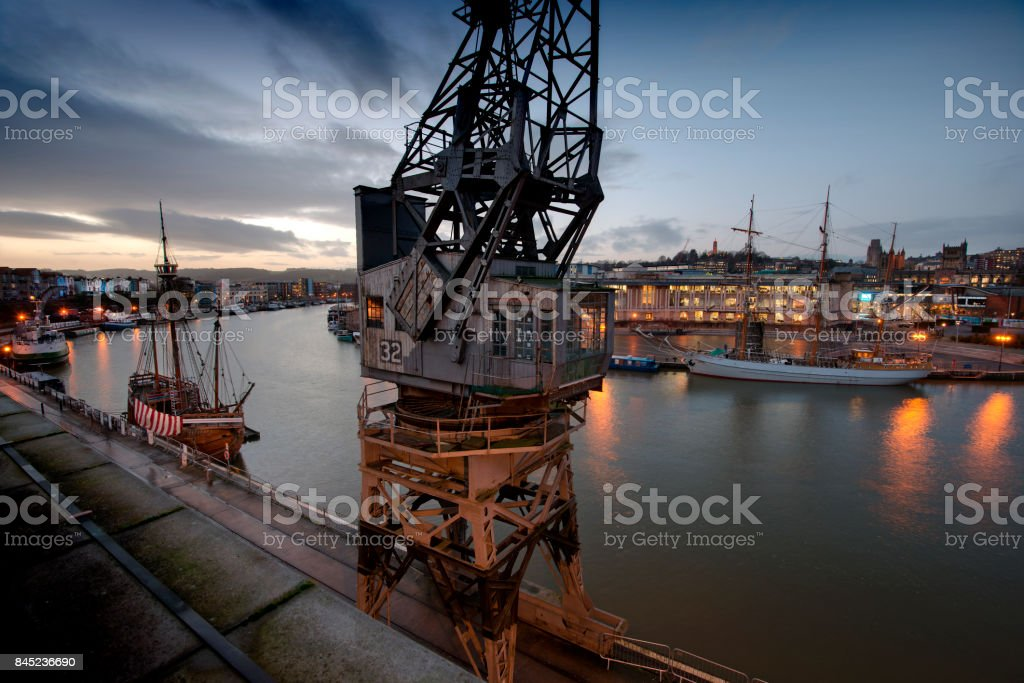 Bristol city docks stock photo