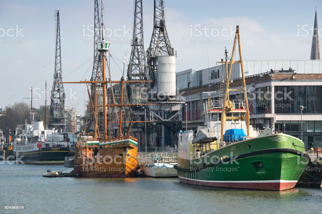 Bristol Docks and Harbourside stock photo