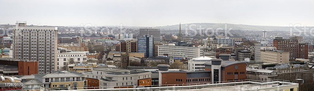 Bristol, England Skyline Panorama Aerial View stock photo