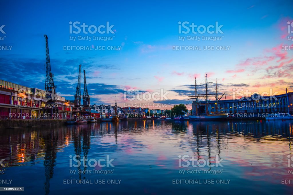 Bristol floating harbour stock photo