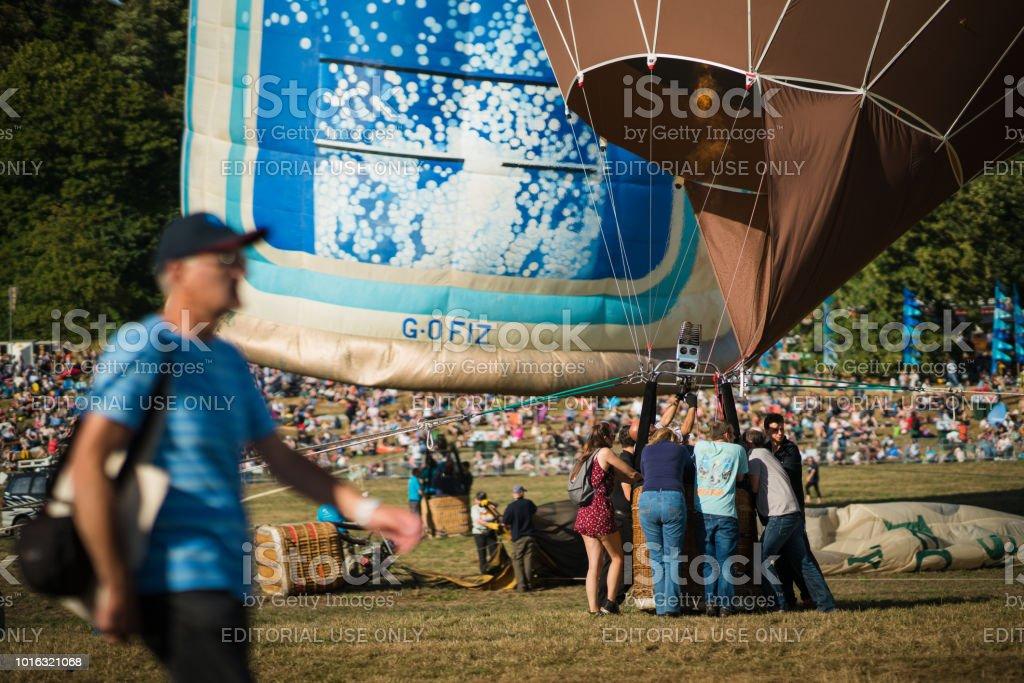 Bristol International Balloon Fiesta 2018 Day 1 stock photo