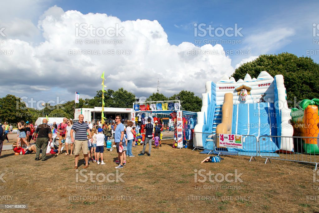 Bristol International Balloon Fiesta - Family Fun stock photo