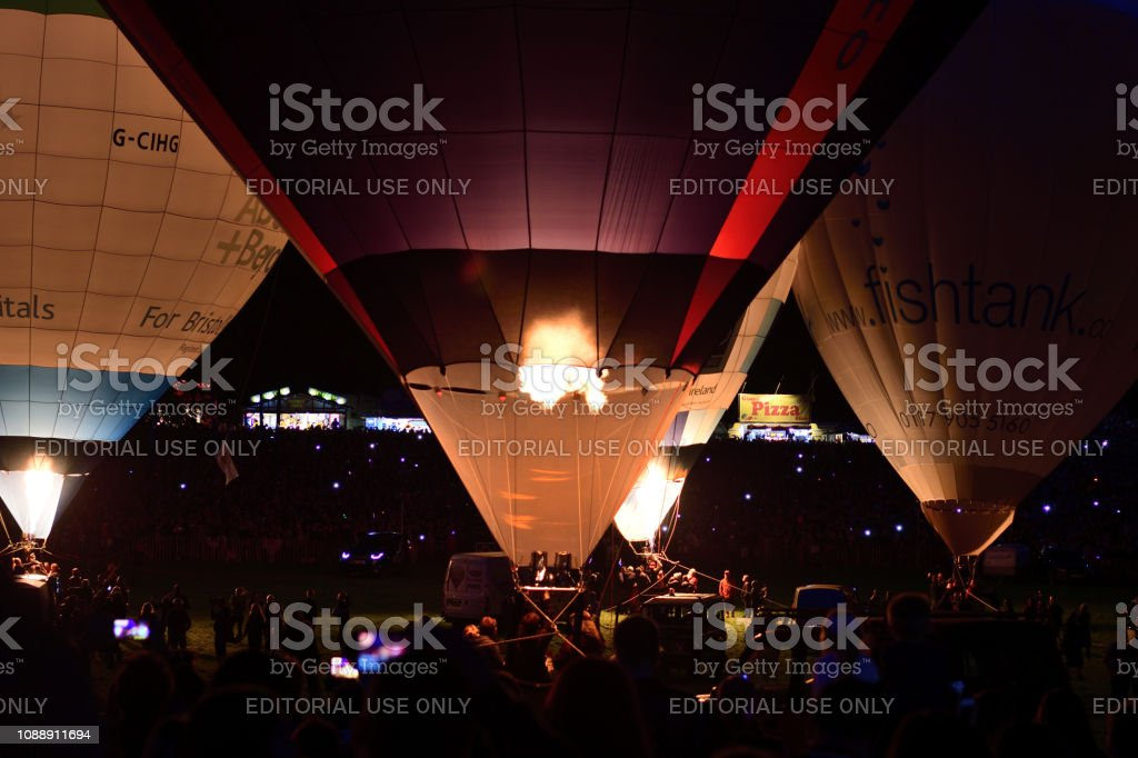Bristol international balloon fiesta stock photo