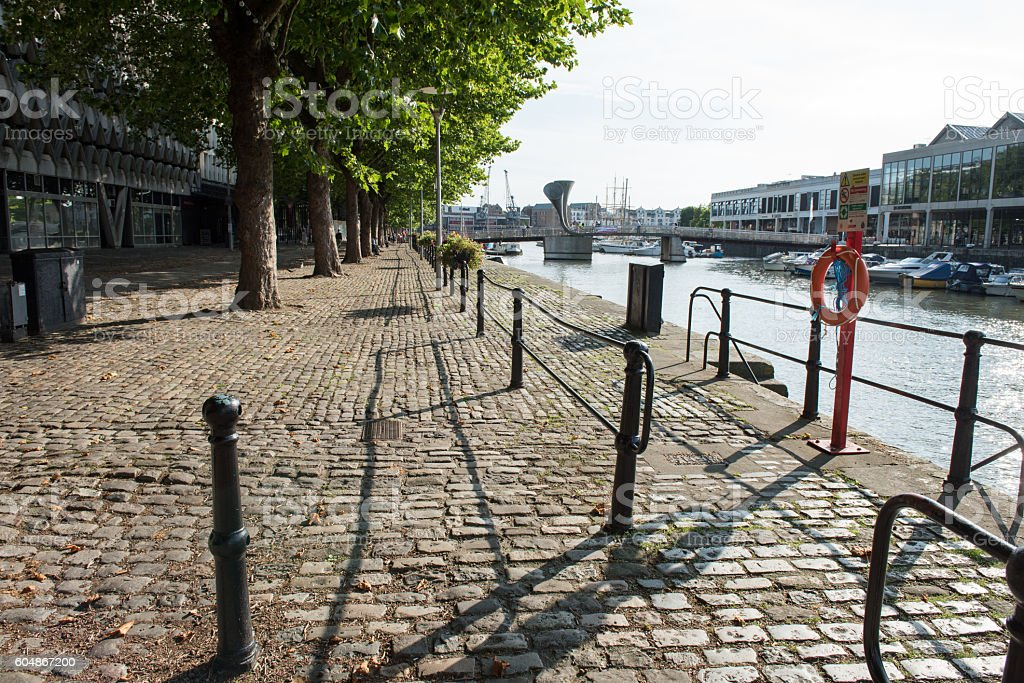 Bristol quayside stock photo