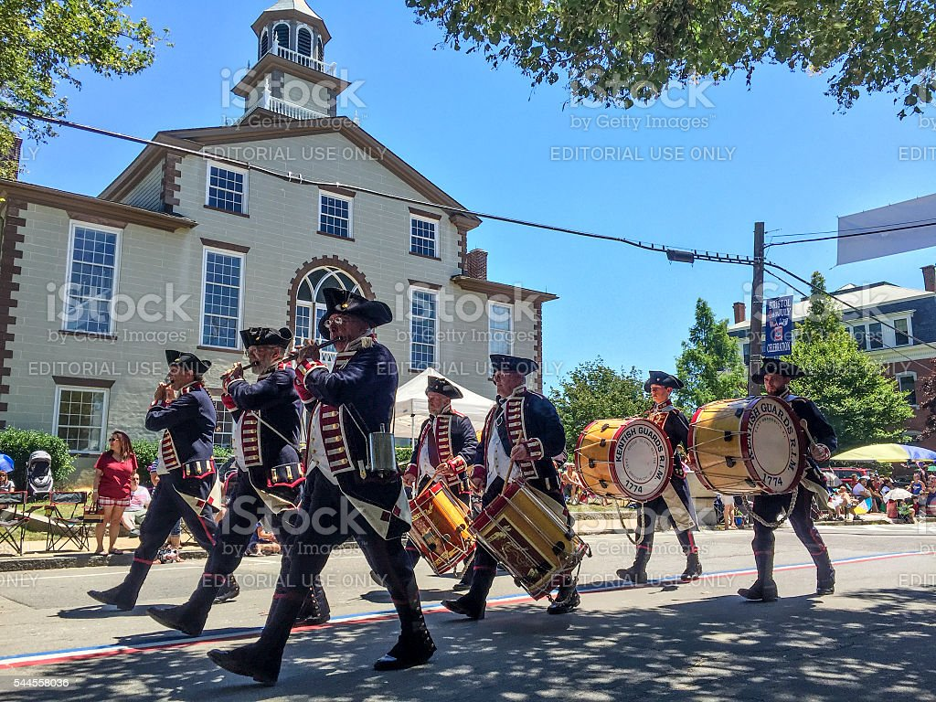Bristol Rhode Island 4th of July Parade royalty-free stock photo