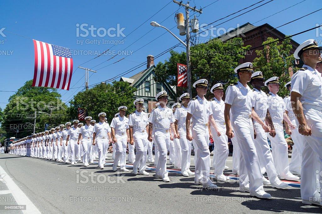 Bristol Rhode Island July 4 Parade stock photo