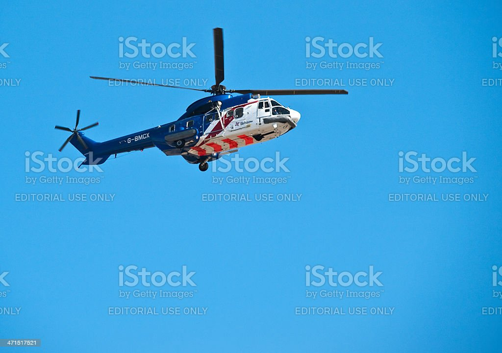 Bristow Helicopters Aerospatiale AS-332L Super Puma royalty-free stock photo