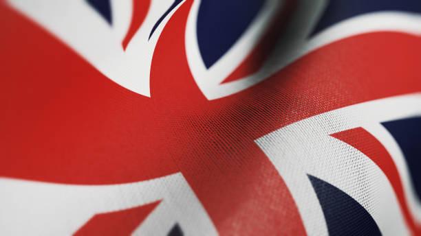 영국 국기, 영국 깃발 현실적인 3d 그림 - 영국 국기 뉴스 사진 이미지