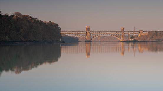 Britannia Bridge Stock Photo - Download Image Now