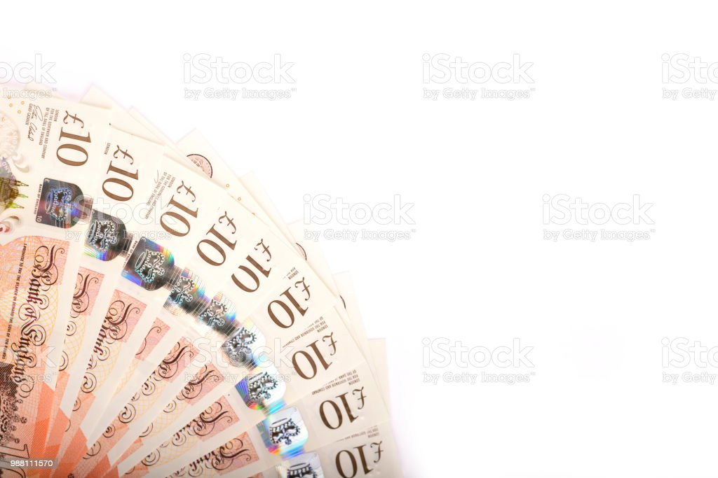 British 10 pounds stock photo