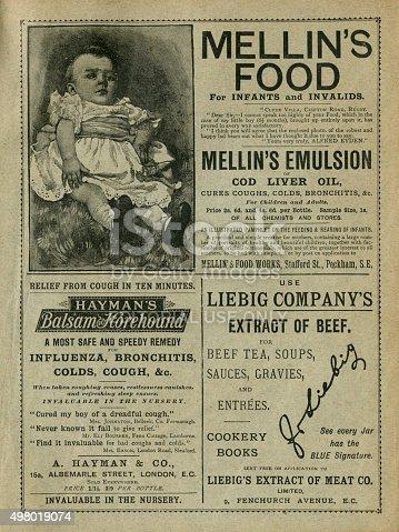 1070355804 istock photo British 19th century advertisements 498019074