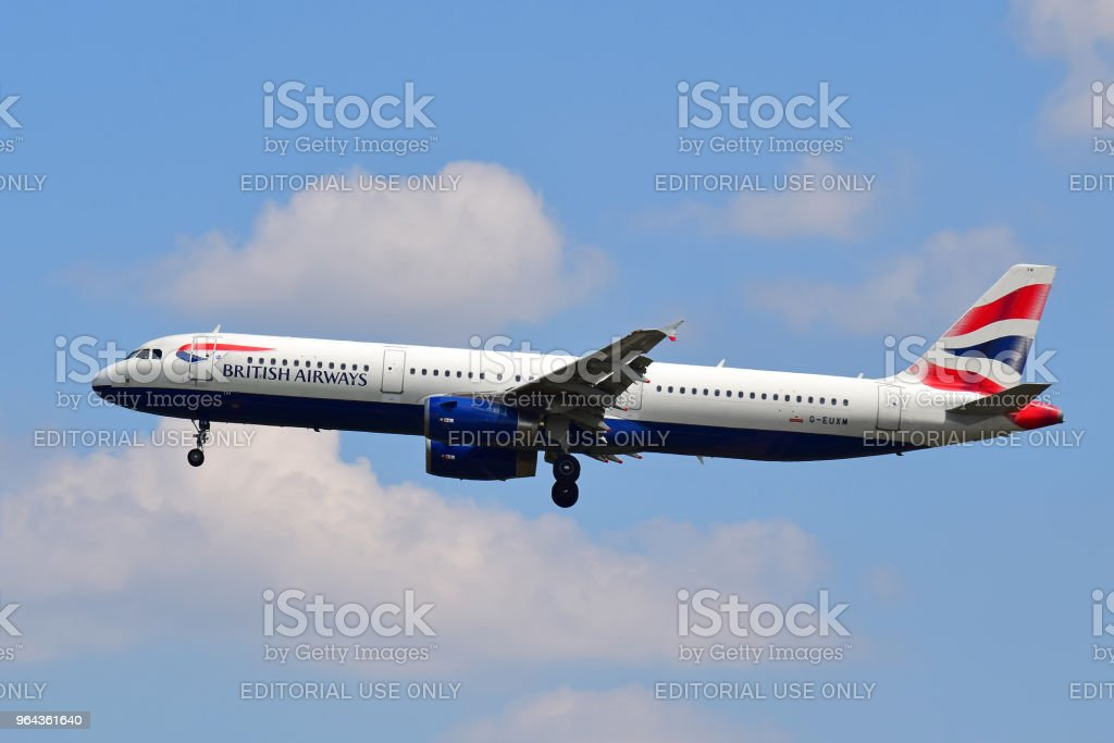 British Airways Airbus A321 - Foto de stock de Aeroporto royalty-free
