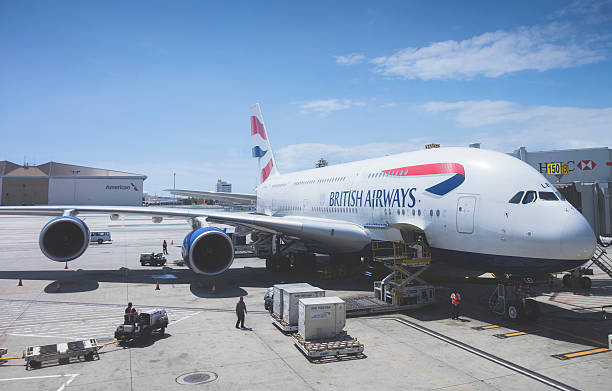 British Airways Airbus A380 stock photo