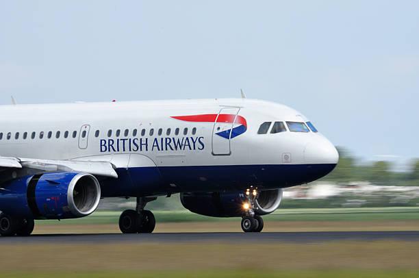 British Airways airlines plane taking off