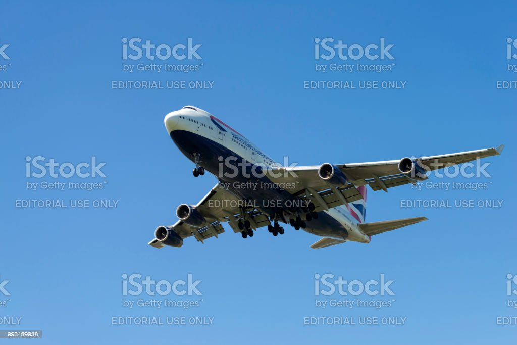 British Airways Airplane 'Jumbo' 747 stock photo
